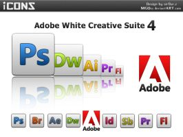 Adobe White Creative Suite 4 by MGQsy