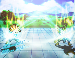 Gohan Vs Cell (Effect practice) by FrostRaven32