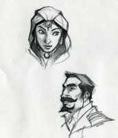 Quick character sketches by RobtheDoodler