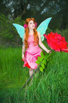 Pixie Hollow Rosetta Cosplay Costume by glimmerwood