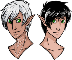 Fenris and Leto by MageMina