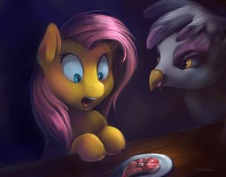 Fluttershy, Gilda - You do what? by viwrastupr