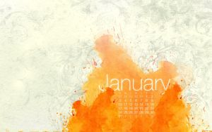 January 2010 Calendar by kriegs