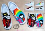 Self Portraits on Shoes by jaleh