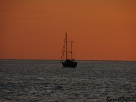 Lonely boat by boro0707