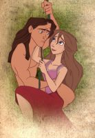 Tarzan and Jane by LathronAniron