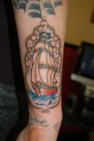 Ship tattoo by yayzus