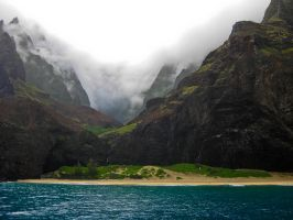 Misty Morning, Na Pali Coast 2 by Utukki-Girl