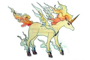 MEGA RAPIDASH by thoughtsofed
