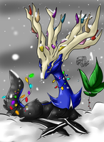 Healer's Christmas +Xerneas+ by iSapphirus