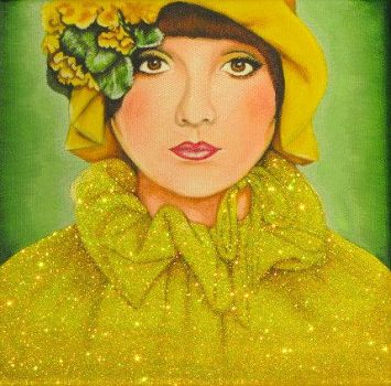 Yellow Glitter Girl by thewhocaresgirl