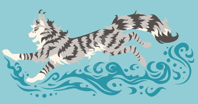 Water Cat Design - Finished by CaptainMorwen