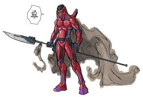 spear in red by mrreed