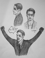 Yakuza - drawing Majima is kinda hard actually by litesnake