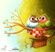 Daily Painting 1709# Pecknic by Cryptid-Creations