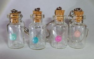 GLOW-in-the-Dark Zelda Bottled Fairy Keychains by Linksliltri4ce