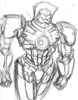Picture a Day 231: Gypsy Danger Sketch! by ConstantM0tion