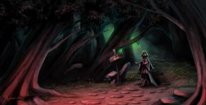 Color practice4_The Last Enchanter scene by Luaprata91