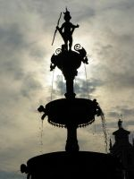 The Fountain in Front of the City Hall by sheiruki