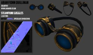 steam punk goggles by deadlights12