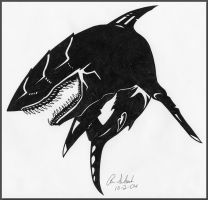 Sightless Shark Tattoo by Dusky-Hawk