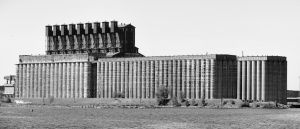 Grain Building Pano B and W by calebrw