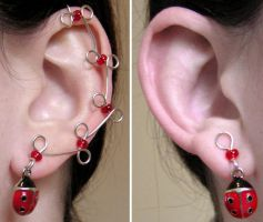 Ear Vines - Ladybugs by lavadragon