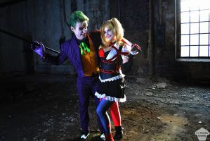 Harley Quinn (Arkham Knight) and Joker 4 by ThePuddins