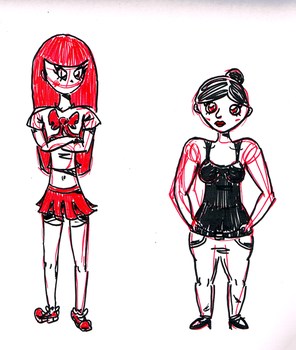 Red ladies by A-DoubleH-X