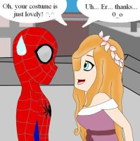 If Spider-Man met Giselle by Dragon-Wing-Z