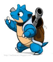 Blastoise by sketchinthoughts