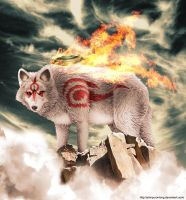 Okami: Lone Wolf by johnpurontong