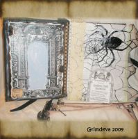 Inside of Cemetery Art Journal by grimdeva