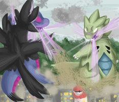 Tyranitar VS Hydregion by SometimesCats