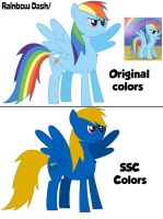Rainbow Dash in SSC colors by Percyfan94