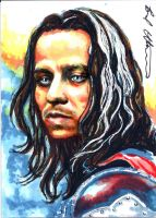 Jaqen H'ghar sketch card by therealbradu
