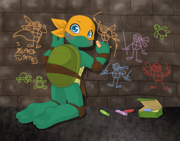TMNT: Doodle master by NamiAngel