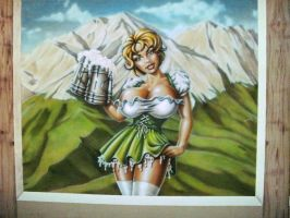 Oktoberfest Girl Mural by linkerart