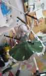 Papercraft Youmu (in the front) by Rika-strife