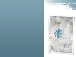 blue and white christmas by netza