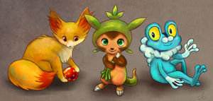 Gen 6 Starter Pokemon! by jeccz