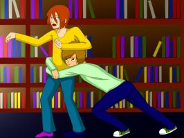 Library glomp by PsychoLornie