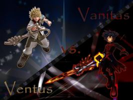 kingdom hearts ventus vs. vanitas by LumenArtist
