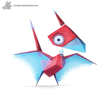 Daily Painting 761. Kanto 137 - Porygon Redesign by Cryptid-Creations