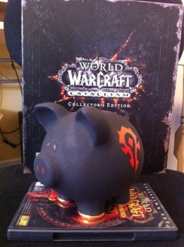 For the Horde - WoW Piggy Bank by ShadowsFire