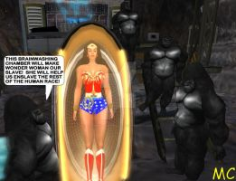 Wonder Woman Captured And Brainwashed By Grodd by The-Mind-Controller