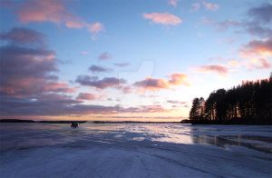 Driving on the ice by MisLuck