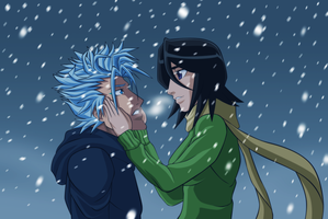 Grimmjow and Rukia by CrimsonCypher