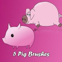 Pig Brushes by remygraphics