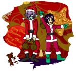 Zel and Ame Christmas by Inustein